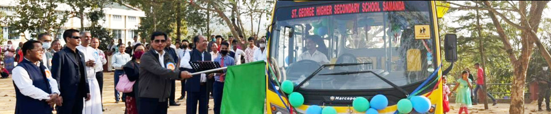 CM flagged-off the New School Bus of St. George School at Samanda